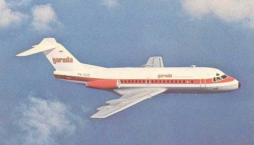 Garuda waren der größte Kunde für die Fokker F28/Courtesy: Fokker