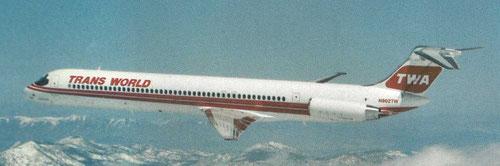 MD-82 der TWA/Courtesy: McDonnell Douglas