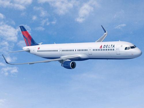 Computermodell einer Airbus A321 der Delta Air Lines/Courtesy: Airbus
