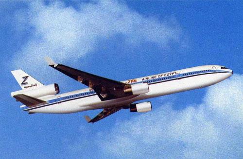 Werbepostkarte mit einer MD-11 der ZAS/Courtesy: McDonnell Douglas