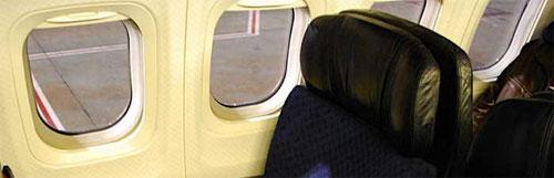 Veränderte Fensterrahmen in einer MD-80/Courtesy: ?