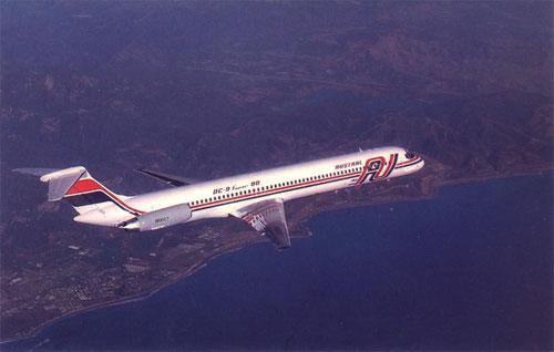 """Die """"LV-WFN"""" mit der US-Registrierung N10027/Courtesy: McDonnell Douglas"""