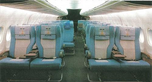 Man beachte die großen Kabinenfenster bei diesem Original-Mockup/Courtesy: McDonnell Douglas