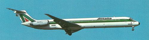Postkarte mit einer MD-82