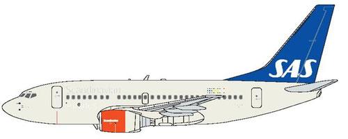 Mit der 737-600 wurde ein neues Farbschema eingeführt/Courtesy: SAS
