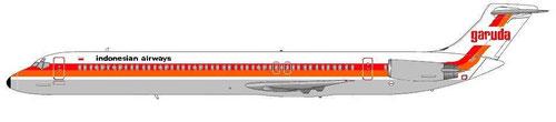 Fiktive MD-80 im alten Farbkleid der Garuda/Courtesy: MD-80.com