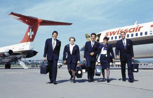 Swissair MD-81-Kabinenbesatzung/Courtesy: Swissair