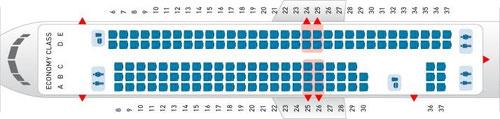 134 Sitzplätze an Bord der MD-88/Courtesy: Delta Air Lines