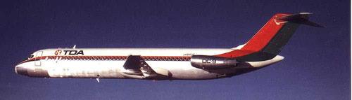 In den 1970ern war die DC-9 das Standardmodell neben der YS-11/Courtesy: McDonnell Douglas