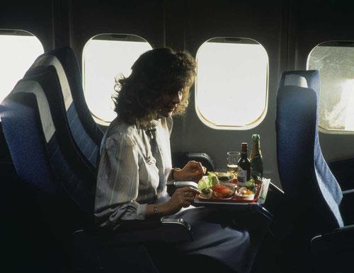 Große Fenster wie bei der MD-80 wirken sich positiv auf das Befinden von Fluggästen aus/Courtesy: SAS