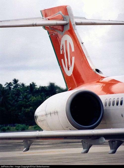 Das schnittige Leitwerk einer MD-90 der UNI Air/Courtesy: Karl Seltenhammer