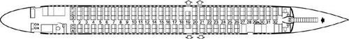 Kabinenplan mit 141 Sitzplätzen/Courtesy: SAS