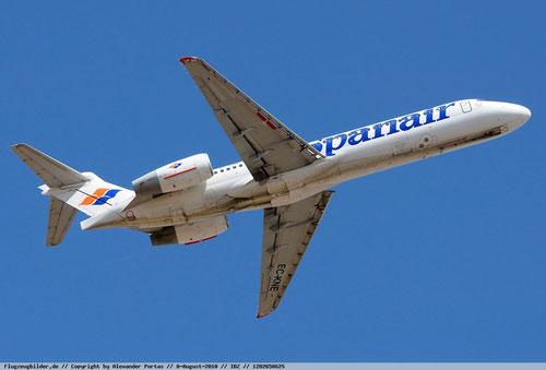 Boeing 717 im Farbkleid der Spanair/Courtesy: Alexander Portas