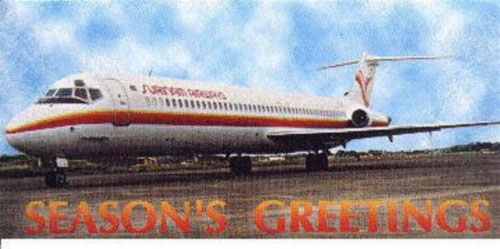 DC-9-51 der Surinam Airways/Postkarte