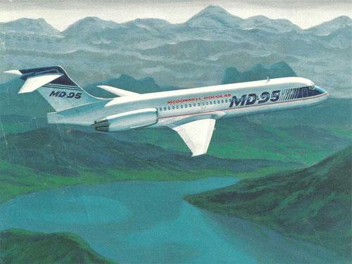 Frühes Konzept der MD-95/Courtesy: McDonnell Douglas