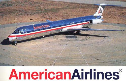 Postkarte mit einer MD-80 der American Airlines/Courtesy: American Airlines
