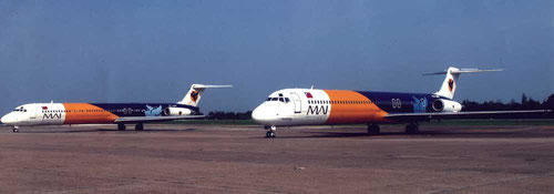 Zwei MD-82/Courtesy: Myanmar Airways International