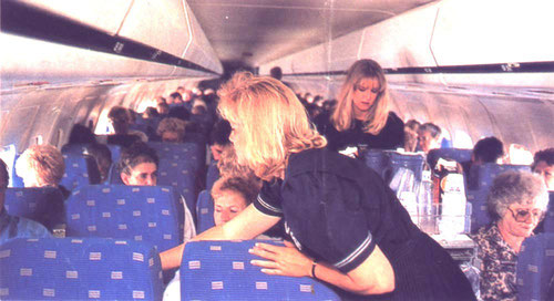 Dieses Foto zeigt das damals verwendete Kabinendesign von American Airlines aus den 1980/90ern an Bord einer MD-80/Courtesy: American Airlines?