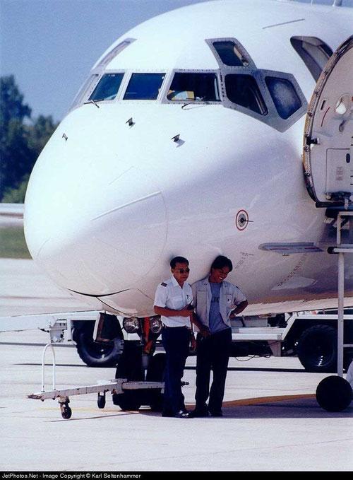 Die MD-90 als Schattenspender/Courtesy: Karl Seltenhammer