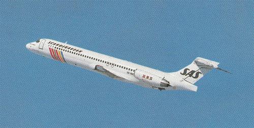 MD-87 auf ihrem Weg in den Himmel/Courtesy: SAS