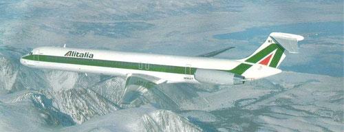 Alitalia MD-82/Courtesy: McDonnell Douglas