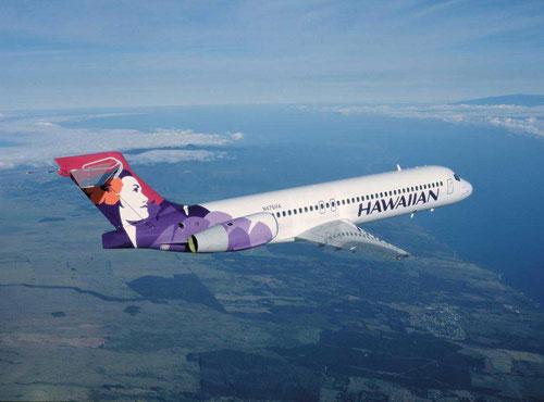 Eine Boeing 717 der Hawaiian Airlines in ihrem Element/Courtesy: Hawaiian Airlines