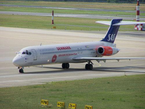 Die letzte aktiv eingesetzte MD-87 bei SAS!/Courtesy: René Kaminski