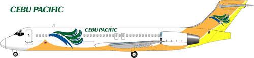 Boeing 717 im fiktiven Farbkleid der Cebu Pacific/Courtesy: MD-80.com