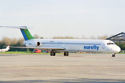 eurofly boten mit MD-83 ihre Dienste an/Courtesy: David van Maaren