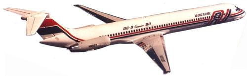 MD-81 der Austral/Courtesy: McDonnell Douglas