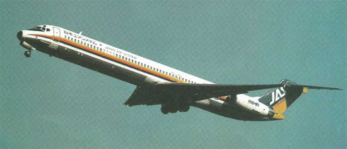 MD-81 der JAS Japan Air System/Courtesy: Japan Air System