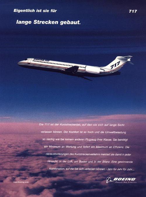 Deutsche Werbeanzeige/Courtesy: Boeing
