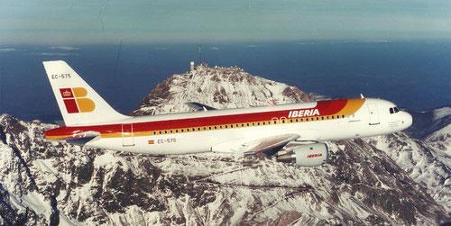 Die A320 (hier von Iberia) übertraf die Leistungen der MD-80/Courtesy: Airbus