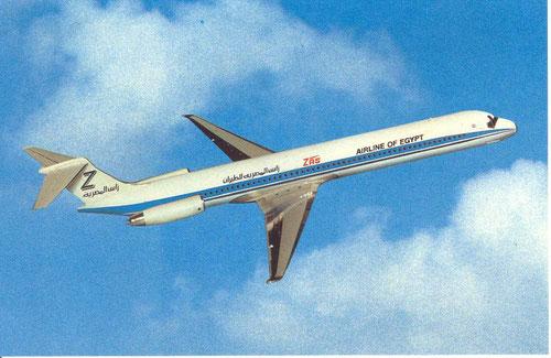 Werbepostkarte mit einer MD-83 der ZAS/Courtesy: McDonnell Douglas