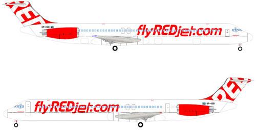 Das offizielle Farbschema von REDJet/Courtesy: REDJet