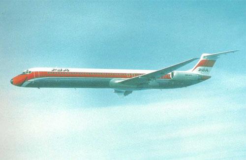 Leise, sparsam und komfortabel - eine MD-81 der PSA/Courtesy: McDonnell Douglas