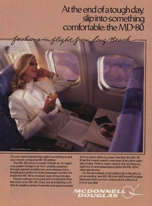 Gewollte Werbewirkung: die großen Kabinenfenster!/Courtesy: McDonnell Douglas