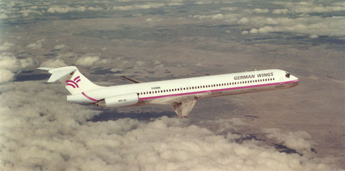 German Wings MD-83-Werbefoto/Courtesy: McDonnell Douglas