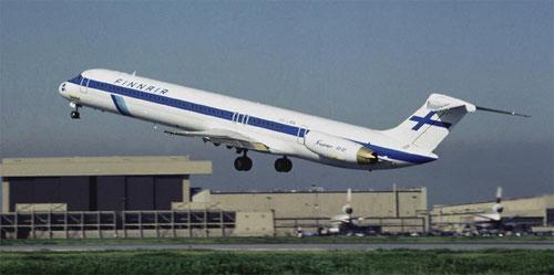 Die erste MD-82 für Finnair/Courtesy: McDonnell Douglas