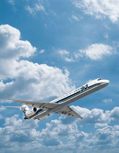 MD-90 in ihrem Element/Courtesy: McDonnell Douglas