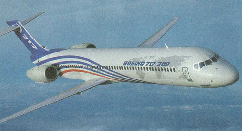 Computerfoto einer Boeing 717-300/Courtesy: Boeing
