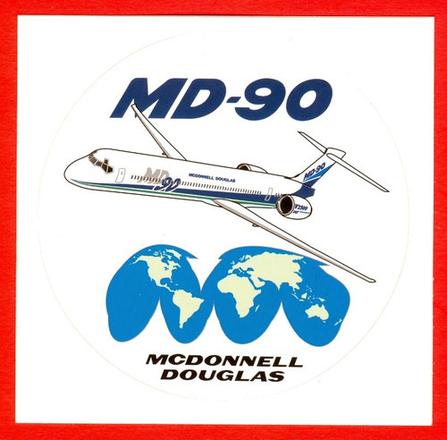 MD-90-Sticker/Courtesy: McDonnell Douglas