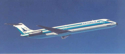 Modell einer DC-9-50 der Republic Airlines/Courtesy: Republic Airlines
