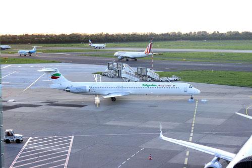 Im Herbst 2015 führte Bulgarian Air Charter weiterhin ihre bekannten Charterflüge von und nach Düsseldorf durch. Es ist wahrscheinlich, dass A320 den Ersatz einleiten werden / Foto: Vincent Ewers