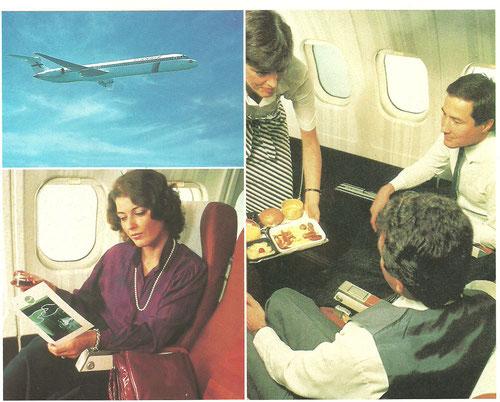 Werbung von Finnair mit der damals neuen MD-82/Courtesy: Finnair