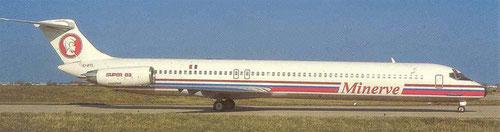 MD-83 der französischen Minerve/Postkarte