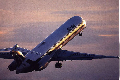 Alitalia no longer uses the MD-80 but this photo shows the elegance and beauty of the aircraft in a perfect way/Courtesy: Alitalia
