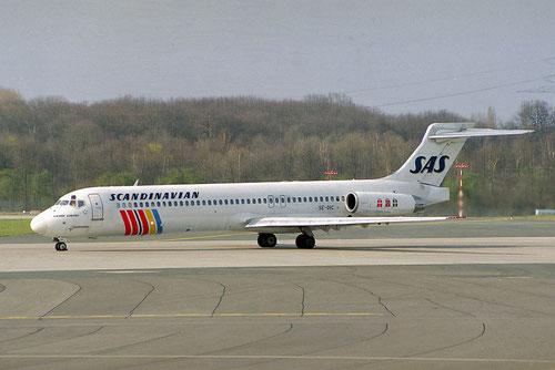 Jahrelang Routine: eine MD-87 der SAS Momente vor ihrem Startlauf/Courtesy: Sandor van Maaren