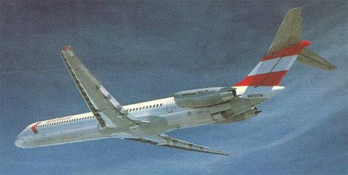 Hecktriebwerke sind ein charakteristisches Merkmal der MD-80-Serie/Courtesy: McDonnell Douglas