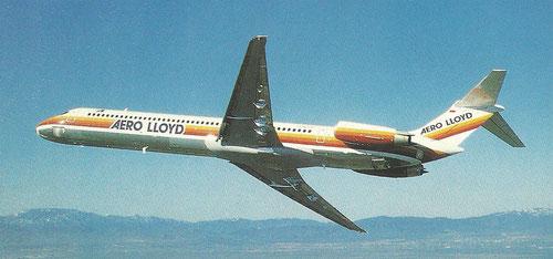 MD-83 im Farbkleid der Aero Lloyd/Courtesy: McDonnell Douglas